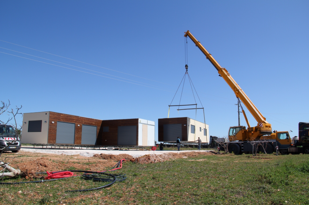 House being installed at site